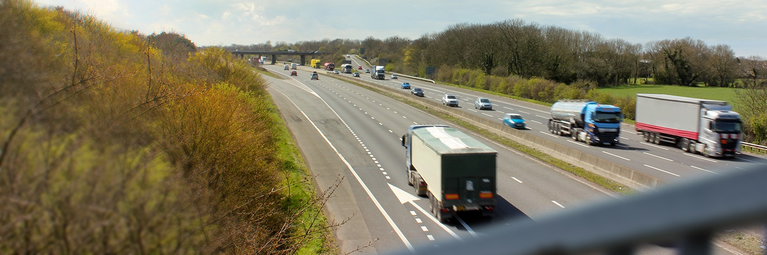 Trucks on motorway