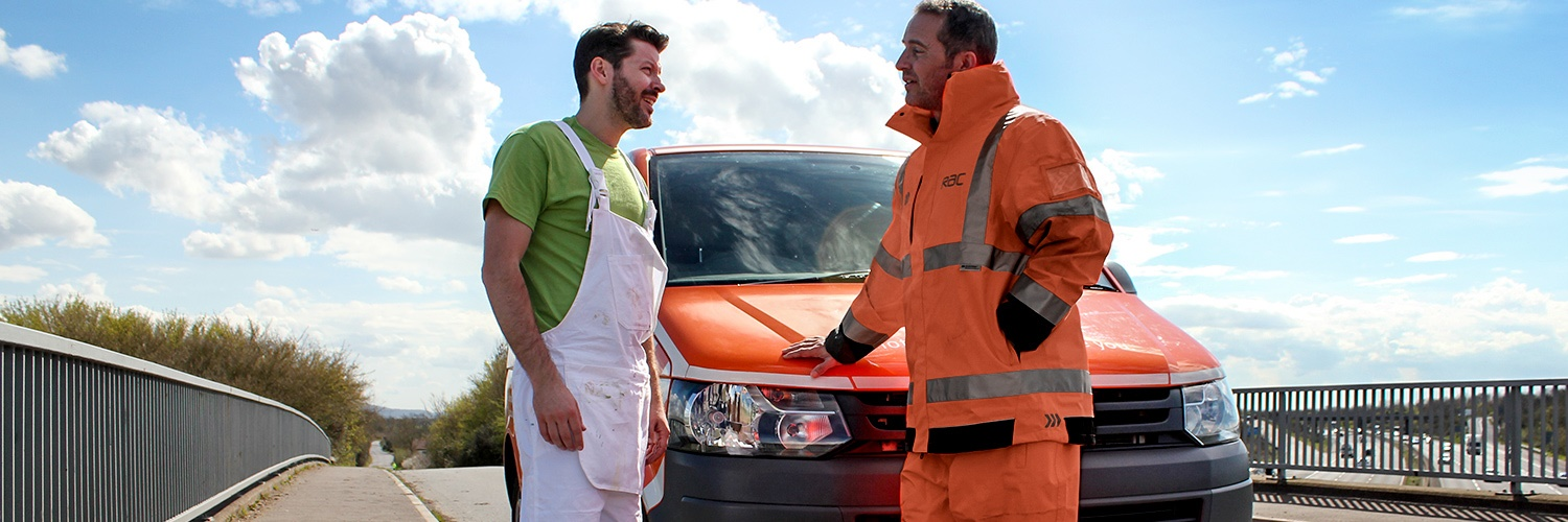 Van driver and RAC man